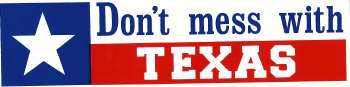 This graphic indicates that the driver is from Texas and, while there is no explicit rule about messing with the driver, their home state is clearly off limits.